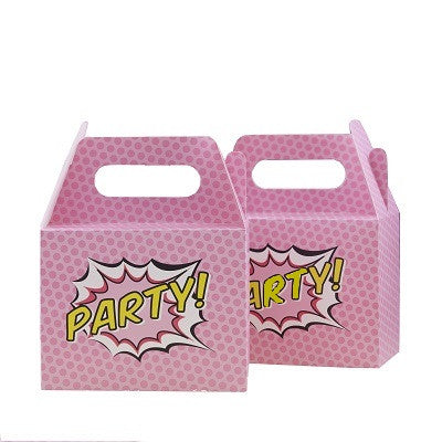 Pink Superhero Party Boxes (5 pack)