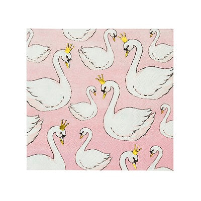 We Heart Swans Cocktail Napkins (16 pack)