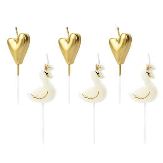 Lovely Swan Candles (6 pack)