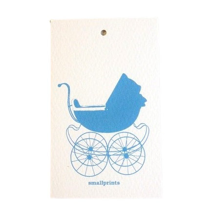 Sweet Carriage Blue Party Bag Tags (10 pack)
