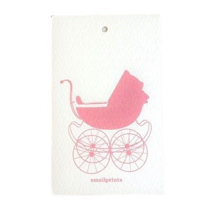 Sweet Carriage Pink Party Bag Tags (10 pack)