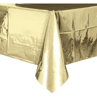 Metallic Gold Plastic Tablecloth
