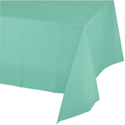 Mint Plastic Tablecloth