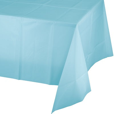 Pale Blue Plastic Tablecloth