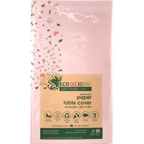 Light Pink Eco Paper Tablecover