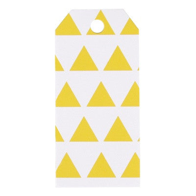 Yellow Triangle Party Bag Tags (12 pack)