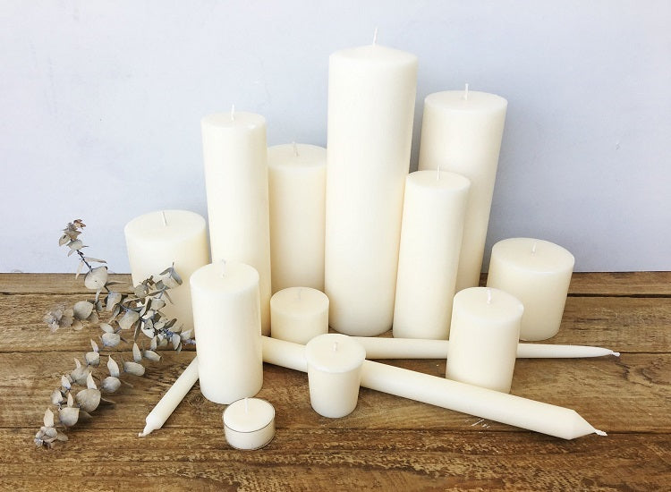 Ivory Taper Candles (4 pack)