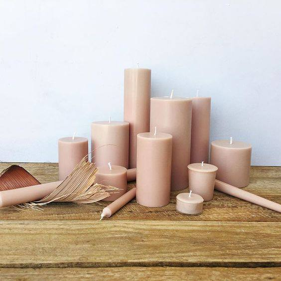 Latte Taper Candles (4 pack)