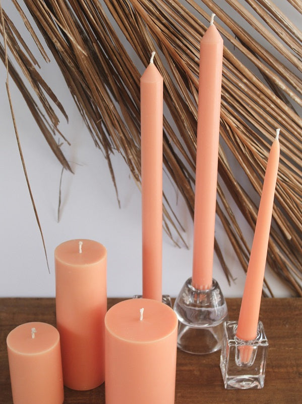 Peach Taper Candles (4 pack)