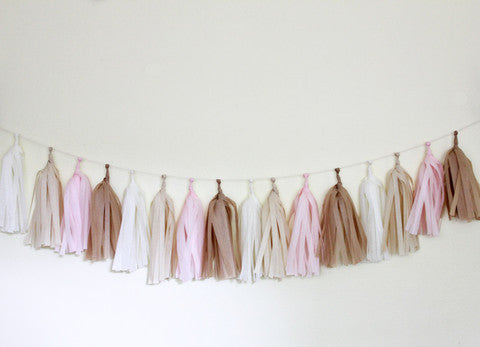 Blushing Tassel Garland Kit