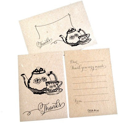 Cup of Tea Thankyou Cards (10 pack)