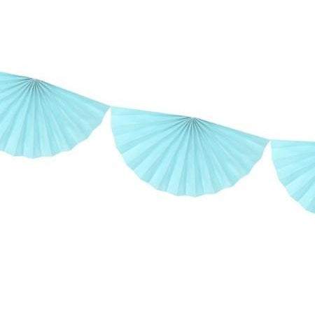 Pale Blue Tissue Fan Garland (3m)