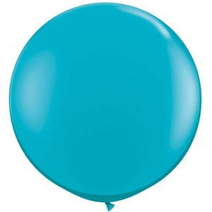 Tropical Teal Giant 90cm Round Balloon
