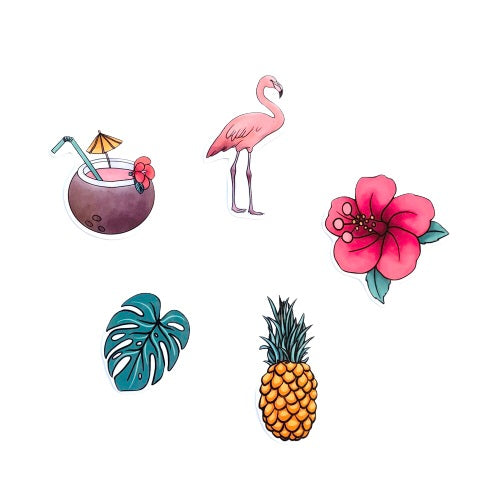 Tropical Sticker Set (5 pack)