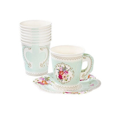 Truly Scrumptious Teacups & Saucers (12 pack)