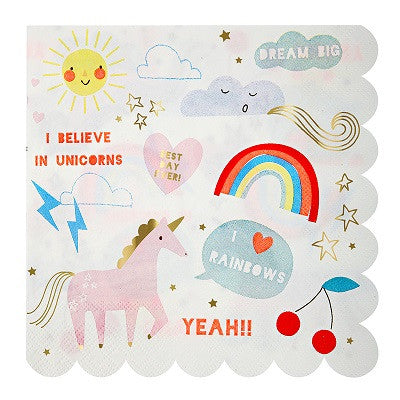 Rainbow & Unicorn Napkins (16 pack)