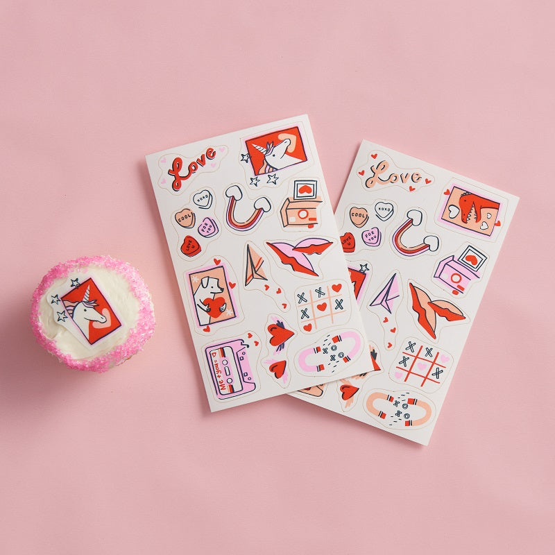 Stickies Valentine's Edible Decorating Stickers (24 pack)