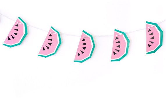 Geo Watermelon Garland