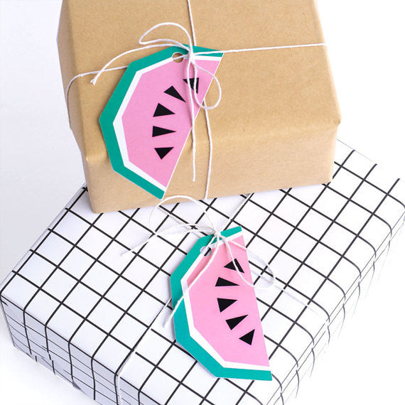 Geo Watermelon Tags (6 pack)