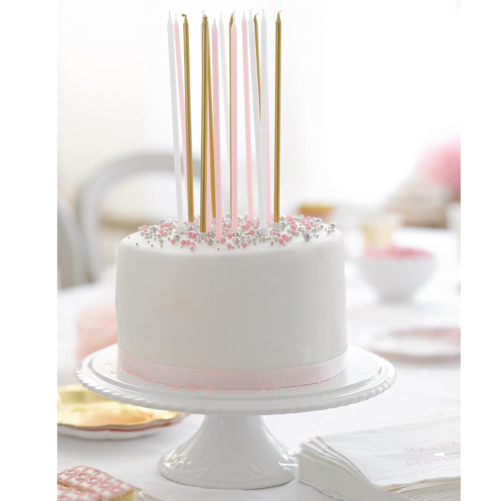 We Heart Pink Tall Candles (16 pack)