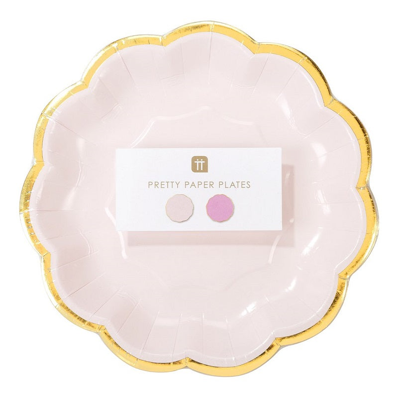 We Heart Pink Dessert Plates (12 pack)