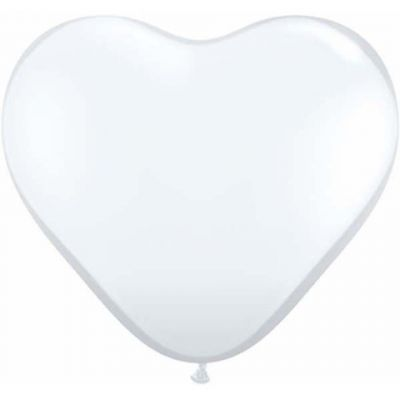 White Giant 90cm Heart Balloon