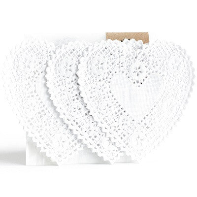 White Heart Doilies (20 pack)