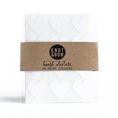 White Heart Sticker Seals (36 pack)