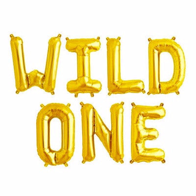 Gold 'WILD ONE' Balloons