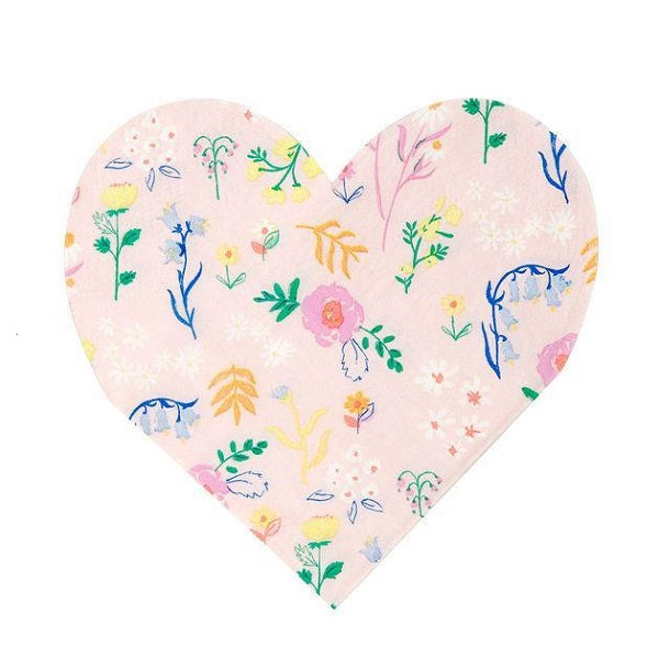 Wildflower Heart Cocktail Napkins (20 pack)