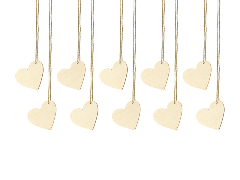 Mini Wooden Heart Tags (10 pack)