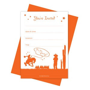 Yee Ha Party Invitations (10 pack)