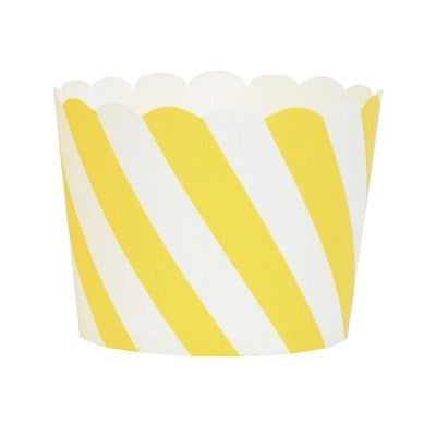 Yellow Stripe Cupcake Cases (25 pack)