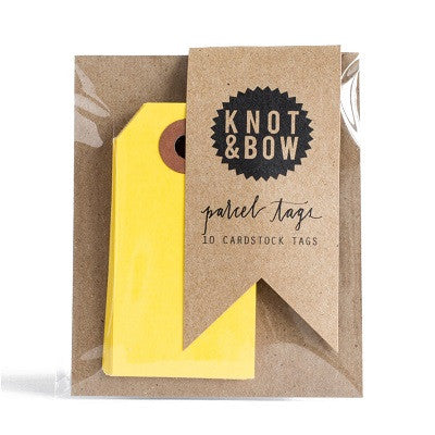 Yellow Party Bag Tags (10 pack)