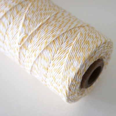 Yellow & White Bakers Twine (100m)