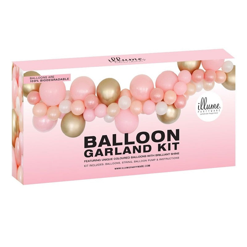Pink & Gold Balloon Garland Kit