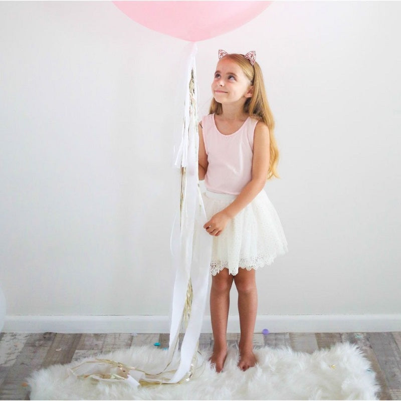 White & Silver Balloon Tail