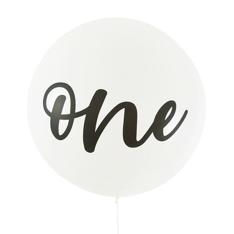 White One Giant 90cm Balloon