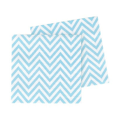 Blue Chevron Paper Napkins (20 pack)