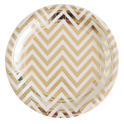 Gold Chevron Plates (10 pack)