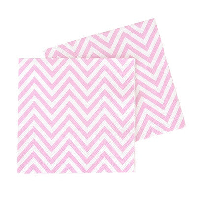 Pink Chevron Paper Napkins (20 pack)