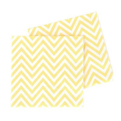 Yellow Chevron Paper Napkins (20 pack)