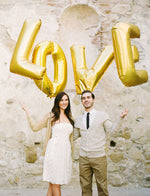 Gold Giant 'LOVE' Balloons