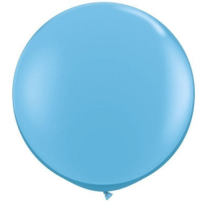 Pale Blue Giant 90cm Round Balloon
