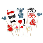 Photo Booth Props - Love (15 pack)