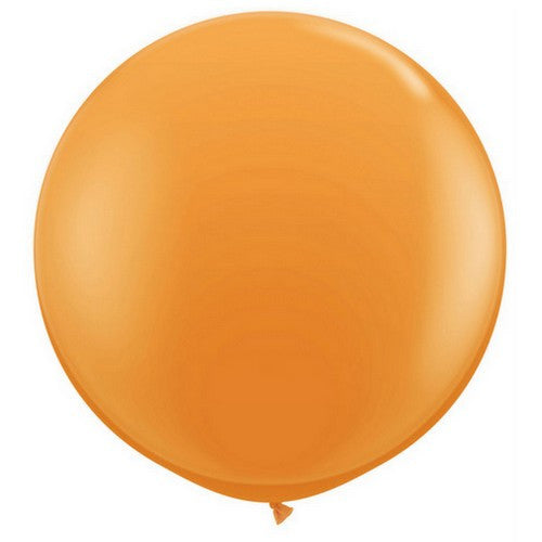 Orange Giant 90cm Round Balloon
