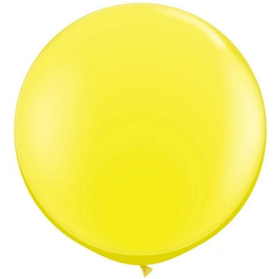 Yellow Giant 90cm Round Balloon