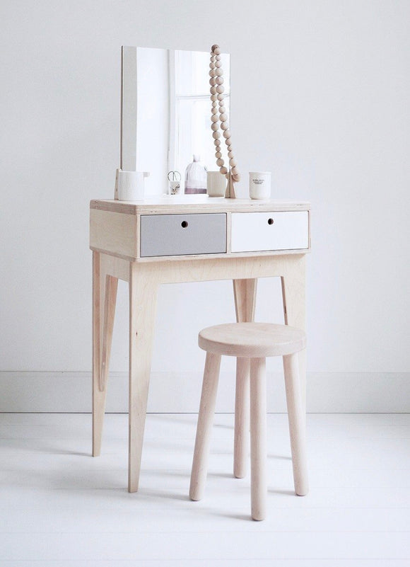 Modern makeup table - The Capri Dressing Table is a modern take on a whats usually an outdated piece of furniture.  Shop this dressing table today from our online furniture store! Shop this modern dressing table with drawers from our high quality furniture online store.