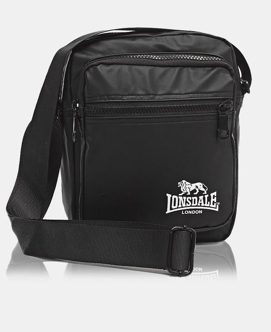 LONSDALE MESSENGER BAG - BLACK