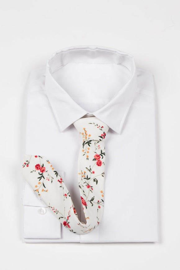 Peter - JCclick Shop Cream Floral Skinny tie-Localizedrsa -Enhance your RSA online shopping experience with localizedrsa, with 10 shopping departments to choose from!-Buy online in South Africa-www.localizedrsa.co.za